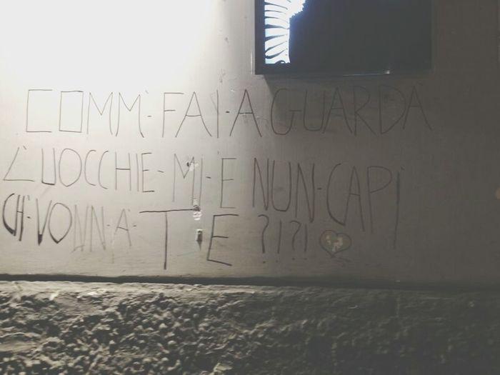 Poesia Metropolitana Dialettale e' troppo carina questa scritta!
