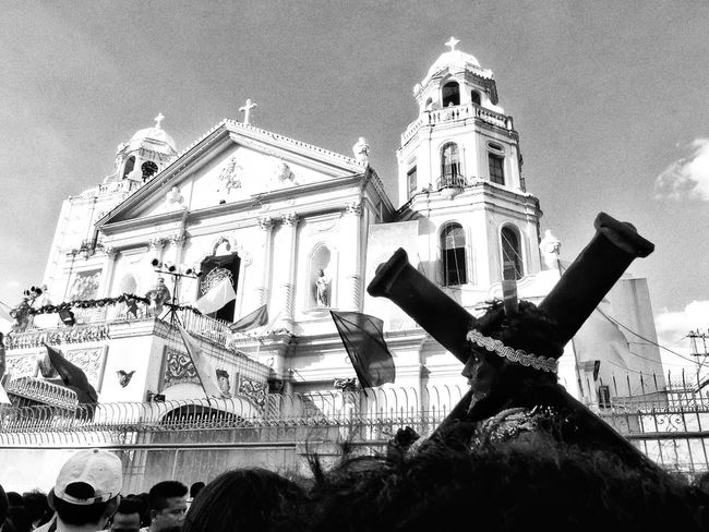 Feast of the black Nazarene Nazareno Black & White Monochromatic Monochrome Street Photography Eyeem Philippines EyeEm Large Group Of People Built Structure Arts Culture And Entertainment Architecture Building Exterior Outdoors Religion