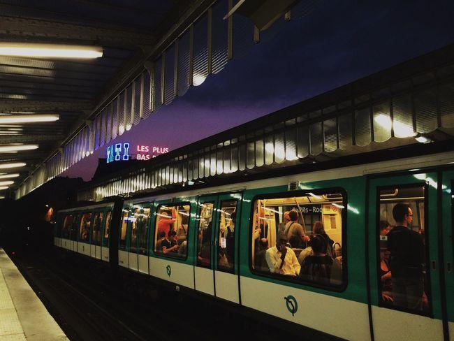 Paris Learn & Shoot: After Dark Subway Tati Barbès People Streetphotography Purple Sky Colors Here Belongs To Me The Street Photographer - 2016 EyeEm Awards My Commute On The Way