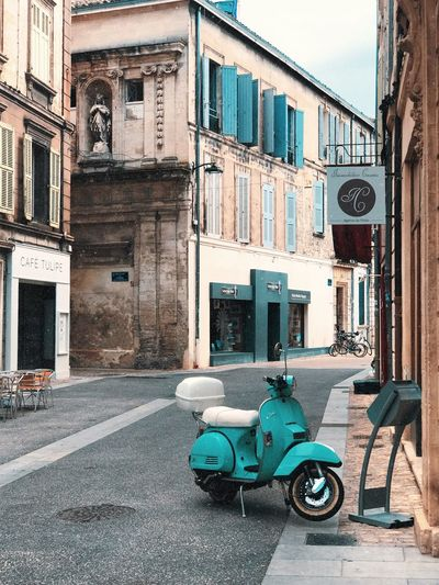 Avignon Beige France Orange Pink Relaxing Rhône Travel Turquoise Colored Vespa Architecture Building City Countryside Medieval No People South Of France Street Summer Travel Destinations Vacation Village