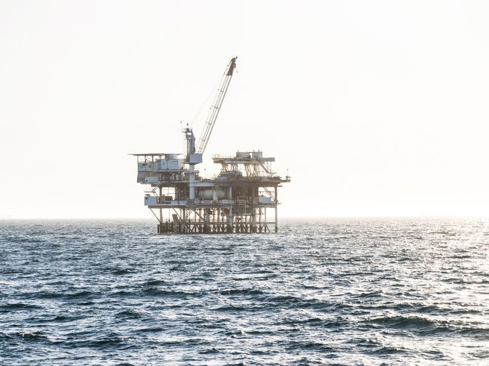 Sea Water Industry Oil Industry Sky Fossil Fuel Horizon Over Water Fuel And Power Generation Horizon Oil Nature Offshore Platform No People Copy Space Drilling Rig Day Waterfront Clear Sky Crude Oil Pollution