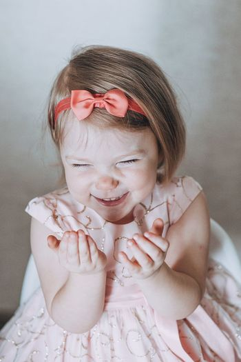 Smile Smile Childhood Child One Person Portrait Females Girls Indoors  Cute Hairstyle