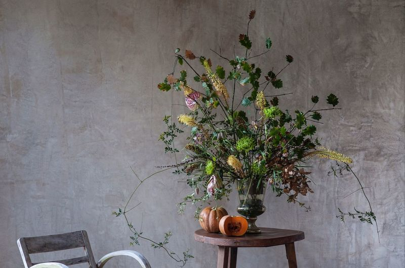 Plant Indoors  Wall - Building Feature Flowering Plant Nature Table No People Flower Food And Drink Growth Wood - Material Vase Freshness Tree Decoration Food Textured  Studio Shot Textured Effect Still Life