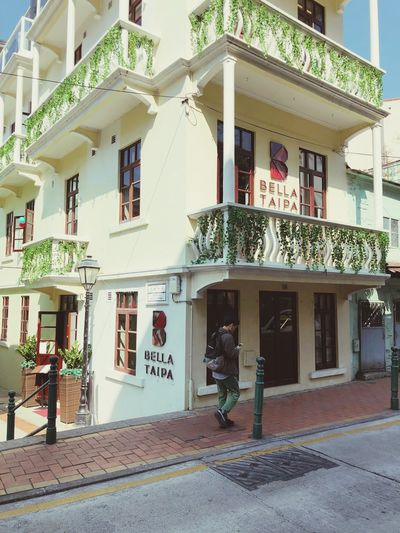 Taipa  Travel Photography Travel Destinations Macau Building Exterior Architecture Built Structure Real People House Full Length Day