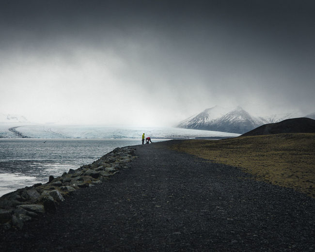 Sky Beauty In Nature Mountain Tranquility Tranquil Scene Non-urban Scene Outdoors Fog Iceland