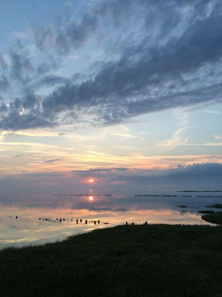 Dänemark Denmark Nordsee Sonnenuntergang Sunset