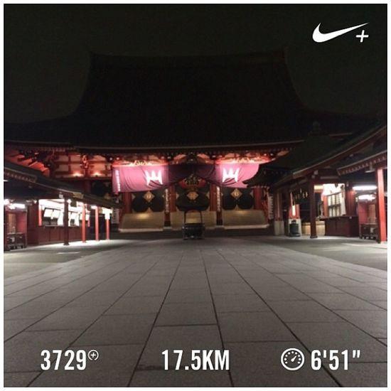 Running Tokyo Nike Run Japan Skytree 東京 スカイツリー 日本 GYAKUSOU 浅草寺 Nikeplus Sensouji 節分 隅田川 ランニング Sumida ナイキ 恵方巻き 隅田川テラス Sumidariver ラン 親水テラス