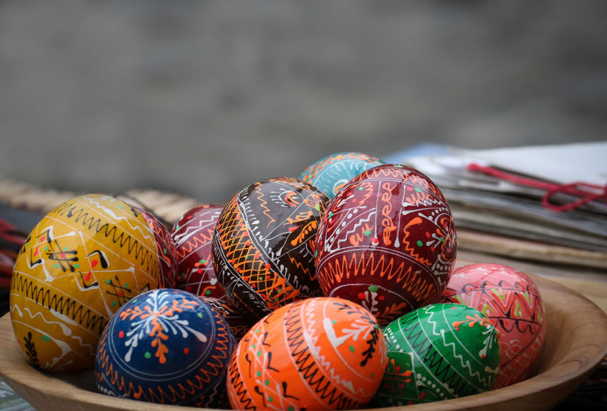 Colorful Creative Cultural Tradition Easter Easter Eggs Egg Focus On Foreground Handmade Handmade Fair Paint Tradition Traditional Culture Unique