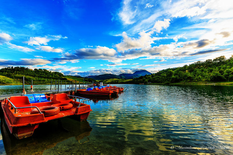 Boat Cingoli Cloud Cloud - Sky Cloudy Lake Mountain Nature Sky Water First Eyeem Photo