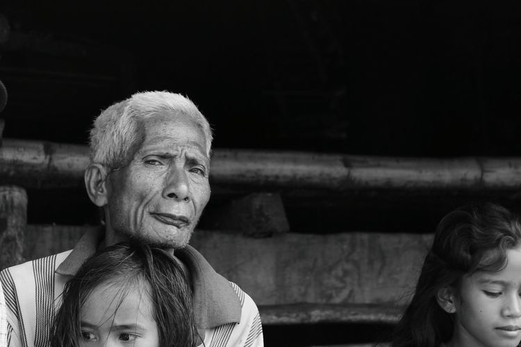 Monochrome Photography Leisure Activity Casual Clothing Lifestyles Headshot Looking Away Front View Person Young Adult Mature Adult Vacations Weekend Activities Oldman The Week On Eyem Eyes Kids Hello World Beautiful Village Life People Remote Places Summer Awesome Day Sumba EyeEm