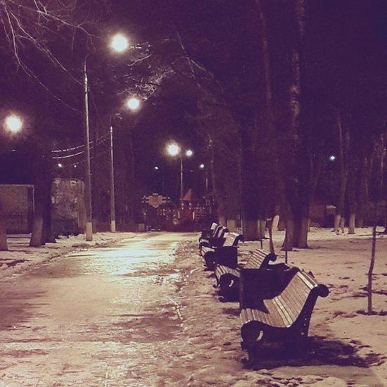 Night Podolsk Spring Park