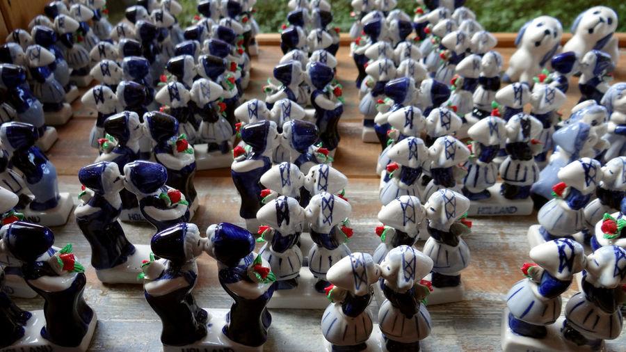 Close-up of porcelain ornaments for sale