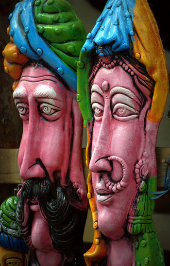 Street Art Items Art And Craft Art Potrait ArtWork Close-up Different Perspective Differential Focus Faces Men Men And Woman Potrait No People Streetart Streetitems Sun Sun Symbol Woman