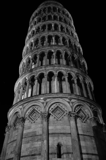 Low Angle View Travel Destinations History Architecture Sky No People Outdoors Close-up Day Pisa Tower Pisa Tour De Pise Blackandwhite Italy Italia