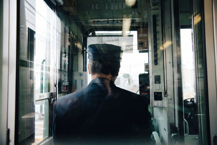 Rear View Train Driver