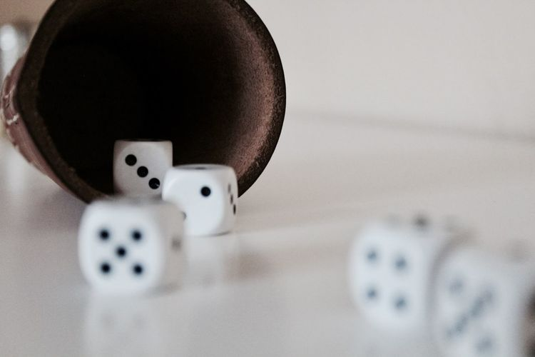Close-Up Of Dices On Table