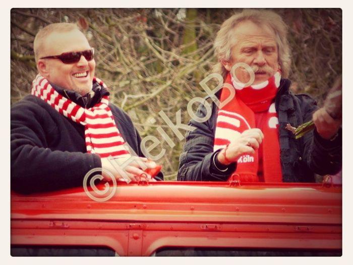 Stefan Raab & Henning Krautmacher (De Höhner) Karneval Köln Rosenmontag 2013 In Köln Stafan Raab  De Höhner