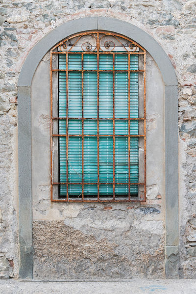 Curtain Shutter Window History Architecture Building Exterior Built Structure Close-up Metal Grate Grate Grid Security Bar Weathered Bad Condition Peeling Off Civilization Crisscross Sewer Manhole  Stained Glass Old Abandoned Damaged Rusty Deterioration Corrugated Iron Window Box Arch Old Town Stone Material