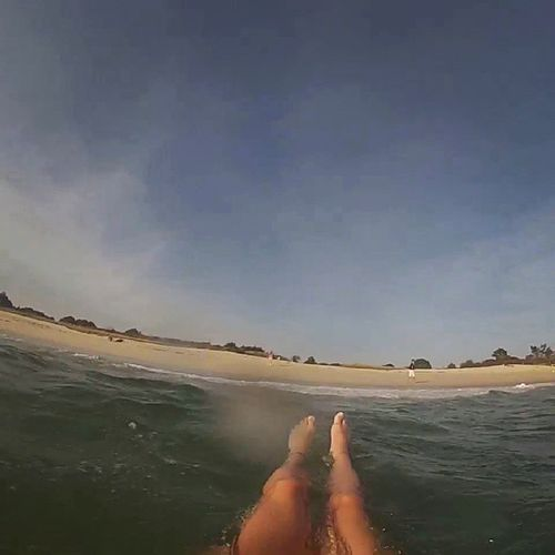Sea Gopro OctoberBath Wave legs beach