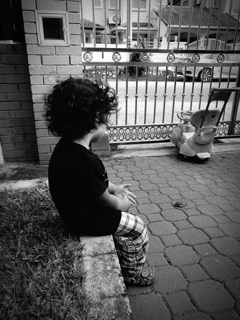 Dream Child Childhood Children Only One Person People Boys Sitting Day Full Length Real People Outdoors One Boy Only Standing Adult