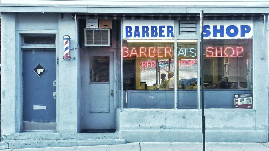 Old School Barber Shop and Old School Barber. Barber Barber Shop Shave And A Haircut Al's Neon Light Neon Lights Neon Sign Pastel Power