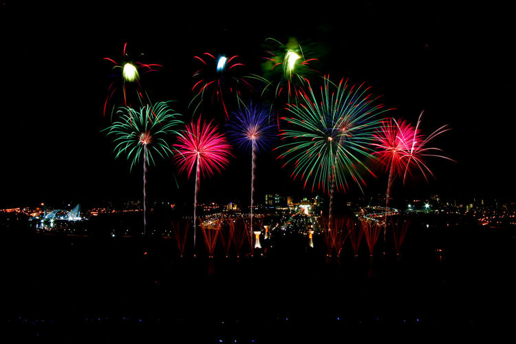 New Year Celebration Fireworks Celebration Celebration Event Colourful Sky Event Exploding Firework Firework - Man Made Object Firework Display Malaysia Midnight New Year's Day Night No People Outdoors Putrajaya,malaysia Sky