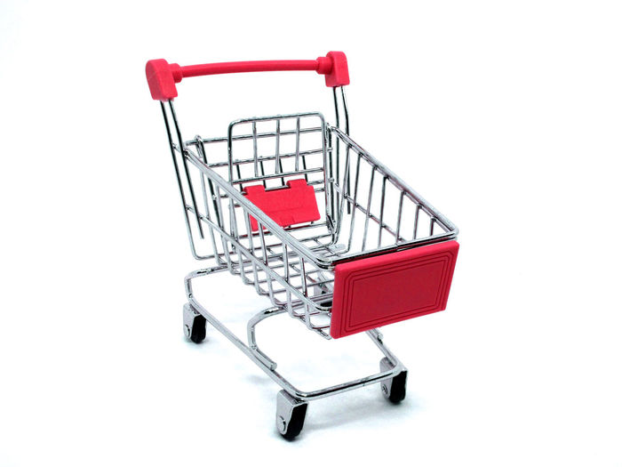 Business Buy - Single Word Buying Cart Consumerism Cut Out Empty Groceries Indoors  Internet Metal No People Push Cart Retail  Sale Shopping Shopping Basket Shopping Cart Store Studio Shot Supermarket Technology Wheel White Background