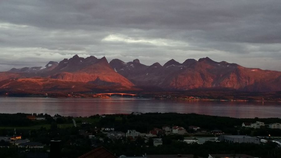 My View Evening Sun Børvasstindan Northern Norway