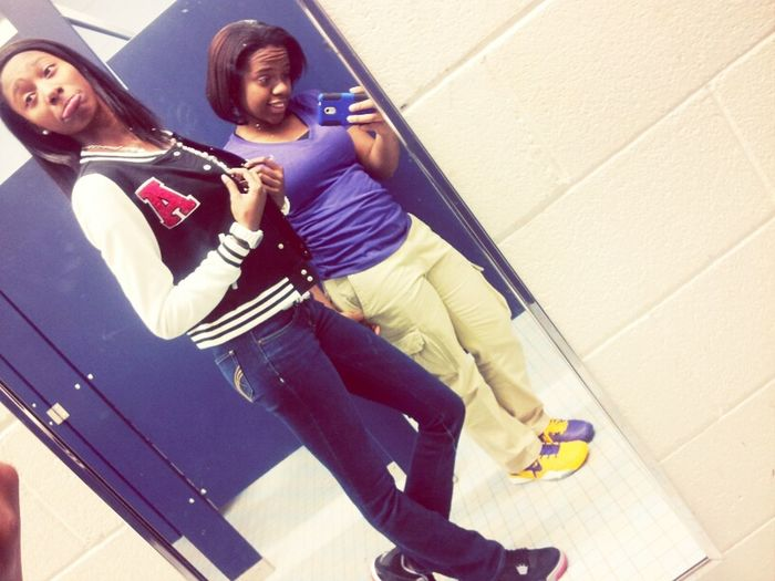 Me And Lauryn Before Practice