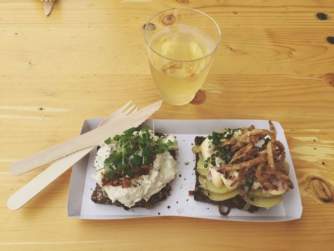 Papirøen Streetfood Smørrebrød Danish Food Food Plate Of Food Knife And Fork Simplicity No People