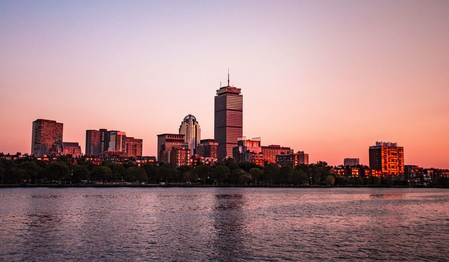 This skyline is one of my favorites Boston Boston, Massachusetts Sunset Sunset_collection Sunset Silhouettes Sunshine Skyline City Cityscapes City Life Cityscape River Landscape Landscape_photography Landscape_Collection Summer Summertime Summer Views Architecture_collection EyeEm Gallery Architecture EyeEm Best Edits EyeEm Best Shots Golden Hour Canon