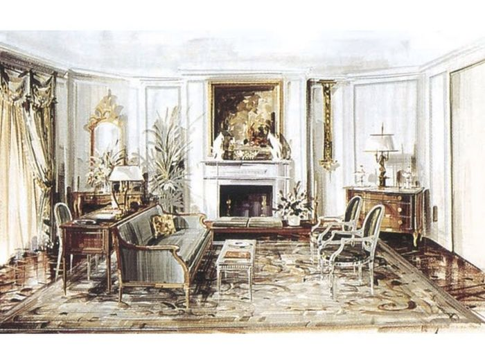 Some old sketches dug from the chest... :) Interior Design Sketch Water Colour Neoclassical