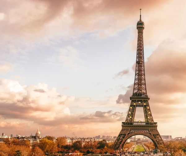 Paris Tower Architecture Built Structure Tall - High Travel Destinations Tourism City Monument Sky Travel Building Exterior Architectural Feature Outdoors Metal Tall