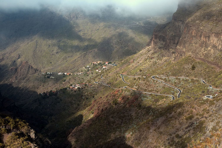 Canary Islands Beauty In Nature Canon Day Fog Height High Angle View Landscape Masca Mountain Mountain Range Mountain Road Nature No People Outdoors Scenics Tranquil Scene Tranquility Winding Road