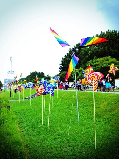 Flag Multi Colored Sky Nature Day City Life Summersonic No People Makuhari Messe Makuhari Chiba,Japan Festival Fes サマーソニック