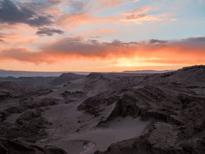 Sunset on the moon Arid Climate Beauty In Nature Climate Cloud - Sky Environment Idyllic Landscape Nature No People Non-urban Scene Physical Geography Remote Scenics - Nature Sky Sunset Tranquil Scene Tranquility