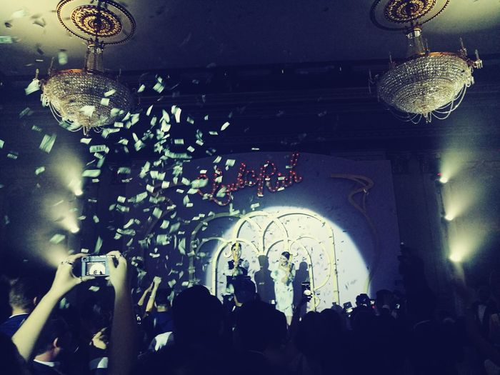 Wedding Large Group Of People Indoors  Crowd Arts Culture And Entertainment Enjoyment Ceiling Arch Person Illuminated Group Of People Rush Hour Nightlife First Eyeem Photo