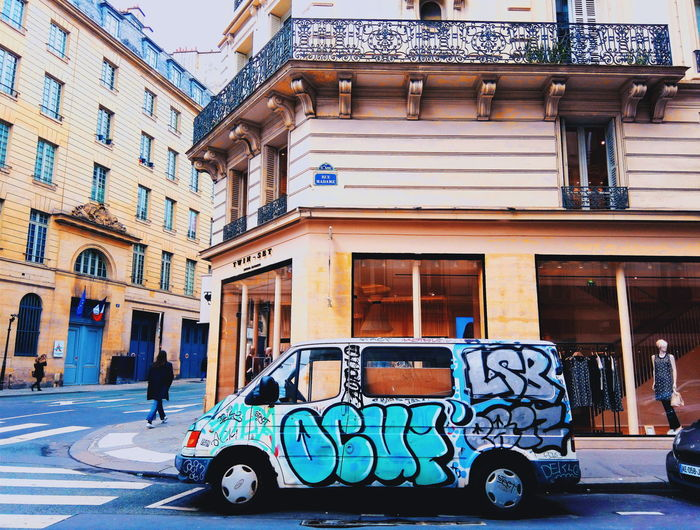 Paris, France  Parisian Chic Streetphotography Streetart/graffiti Truck Posh Saint Germain Des Pres Showcase March Pastel Power Up Close Street Photography The Street Photographer - 2016 EyeEm Awards Colour Of Life Millennial Pink