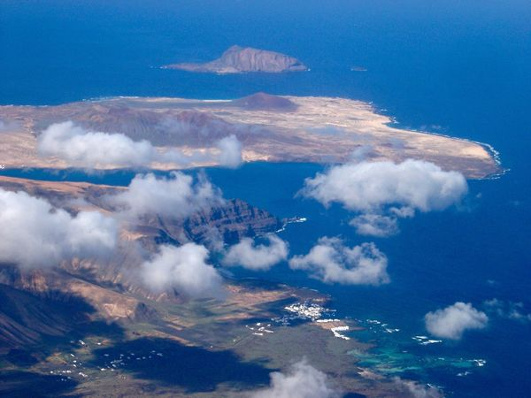 Cloud - Sky Aerial View Outdoors Coastline Flighing High EyeEmNewHere Sea And Sky Island Aerial Photography Lanzarote Island Geographic