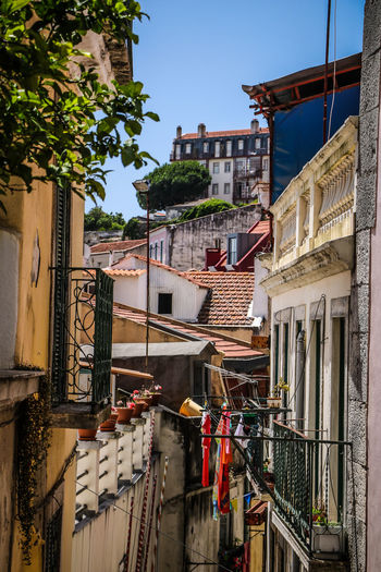 Lisbona, Portugal Architecture Building Exterior Balcony Built Structure Outdoors Travel Destinations Sky Day City Lisbon - Portugal Lisbon City Life Coloerful Citycolors