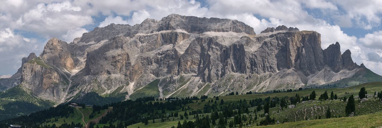 Massiccio del Sella seen from Emilio Comici mountain hut Nature Photography Nature Panoramic Panoramic Photography Sella Passo Sella Dolomites, Italy Dolomites Mountain Landscape Sightseeing Wonder Sky Nature Plant Landscape Land Low Angle View Scenics - Nature Panoramic No People EyeEmNewHere
