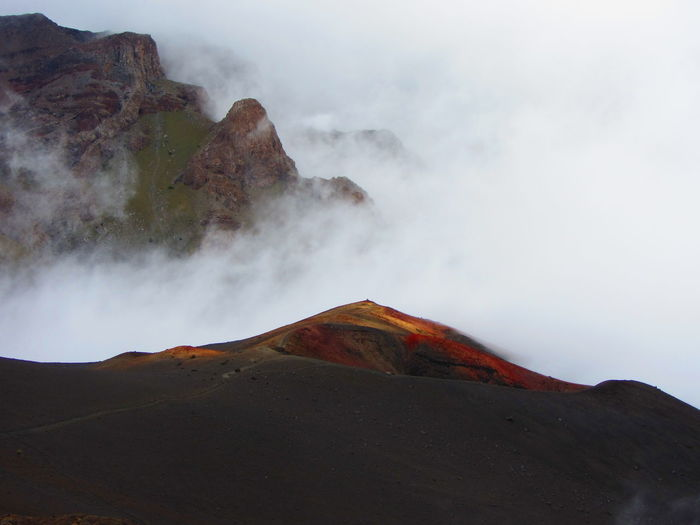 In the clouds at Haleakalā Crater, Maui, Hawaii. Foggy Weather Beauty In Nature Fog Geology Landscape Mountain Nature No People Non-urban Scene Outdoors Physical Geography Power In Nature Scenics Tranquil Scene Tranquility Volcanic Landscape Volcano