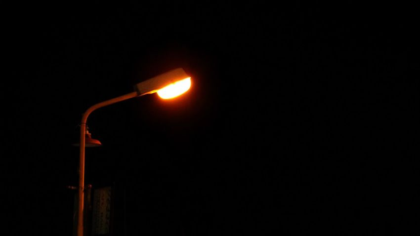 Lonely Lightpost, Petrolog Jetty, Handil, Kalimantan Timur, Kalimantan, INDONESIA