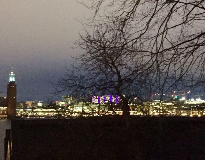 City Illuminated Cityscape Travel Destinations Södermalm Stockholm December 2016 View