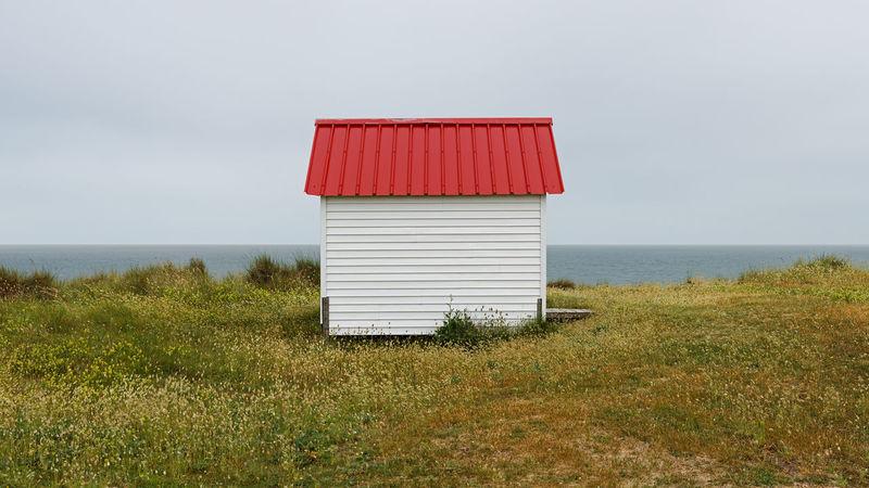 Cabines de plage. Gouville-sur-Mer. Normandie. France. 2014 Cabines De Plage France🇫🇷 Frankreich Urlaub Gouville-sur-Mer Normandie, France Strandhäuser Beach Huts Normandietourisme