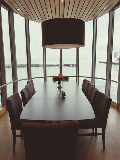 Interior Views Lounge Bigwindow Longtable Harbour View Scandinavian Design Hotel Lounge