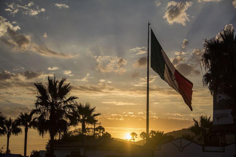 Bandera Monumental Bandera De Mexico Clouds Ensenada Mexican Flag Mexico National Flag Patriotism Sunset