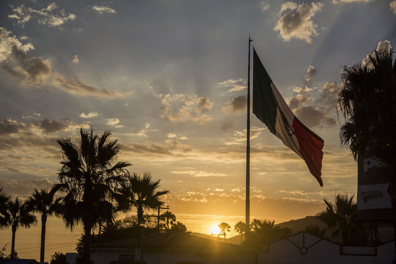 Bandera Monumental Bandera De Mexico Clouds Ensenada Mexican Flag Mexico National Flag Patriotism Sunset