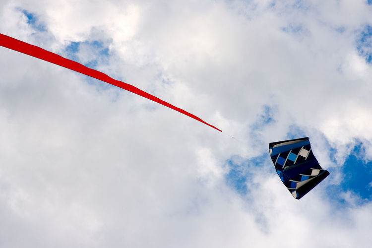 Low Angle View Of Kite Against Sky