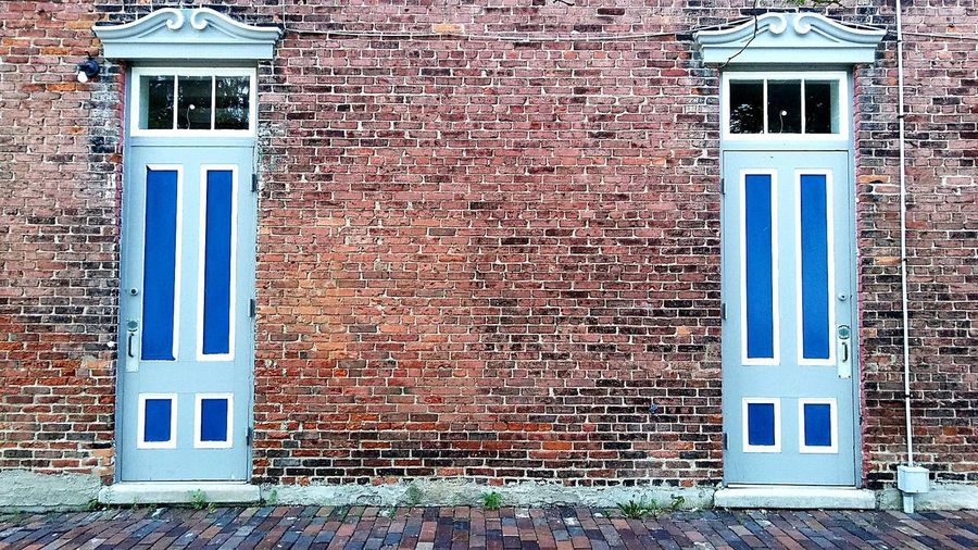 Doors Blue Shades Of Blue Bricks Ypsilanti Depot Town